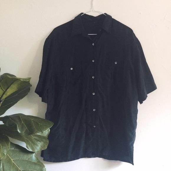 47b06e3afae65b Silk Vintage Square Black Button-Up. M_5b400fe6e944baea40bad3e1